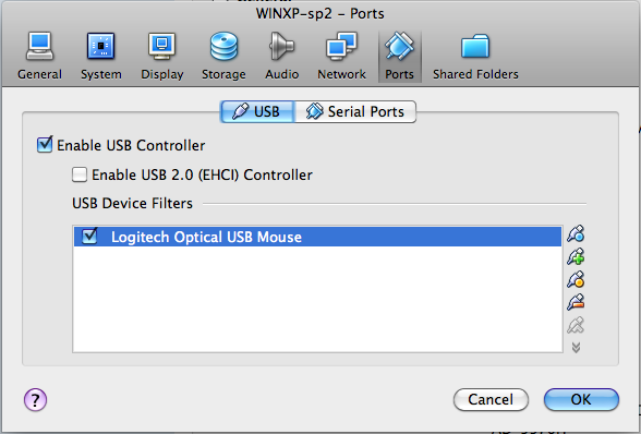 VirtualBox USB Configuration – Hobbies & Vices